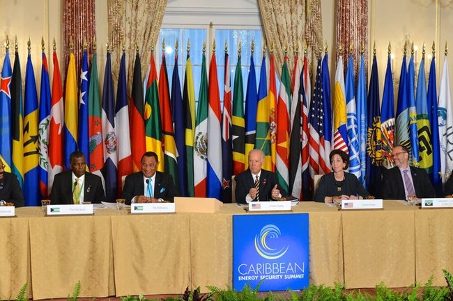 Vice President Biden speaking at the Caribbean Energy Security Summit.
