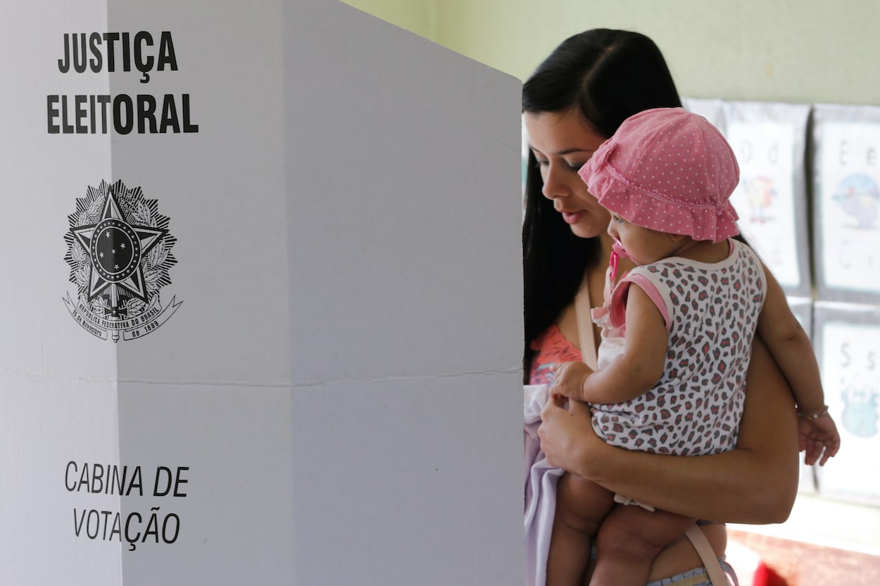 Brazilian voter at the polls