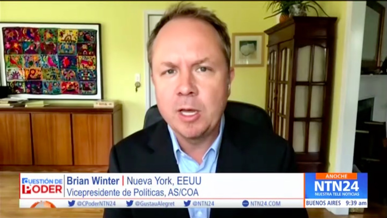 Brian Winter on NTN24 Cuestión de Poder