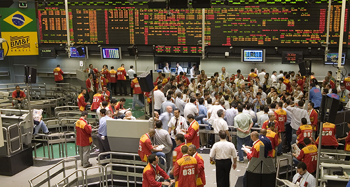 Brazil's Mercantile and Futures Exchange in Sao Paulo