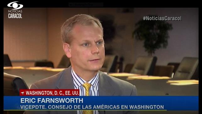 Eric Farnsworth Noticias Caracol Interview January 24