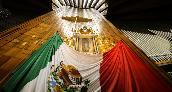 Basilica of Our Lady of Guadalupe, where pope will stop.