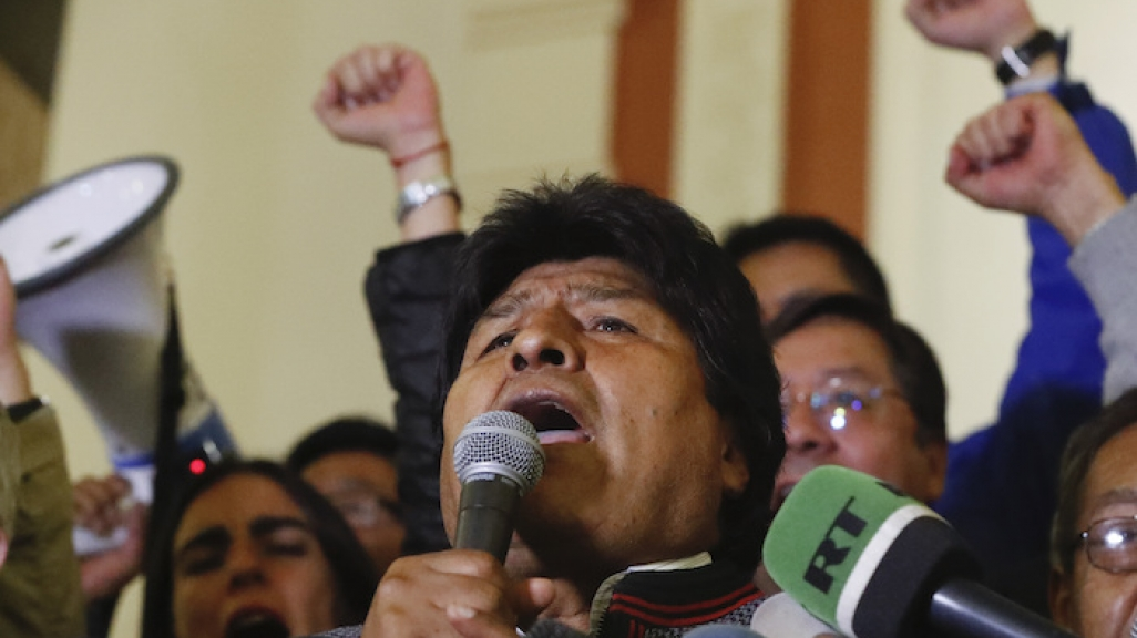 Bolivian President Evo Morales on October 20. (AP Images)