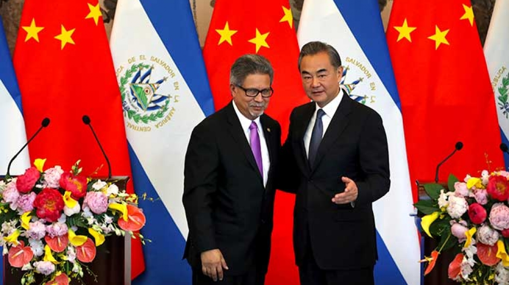 Ministers El Salvador and China's foreign ministers.