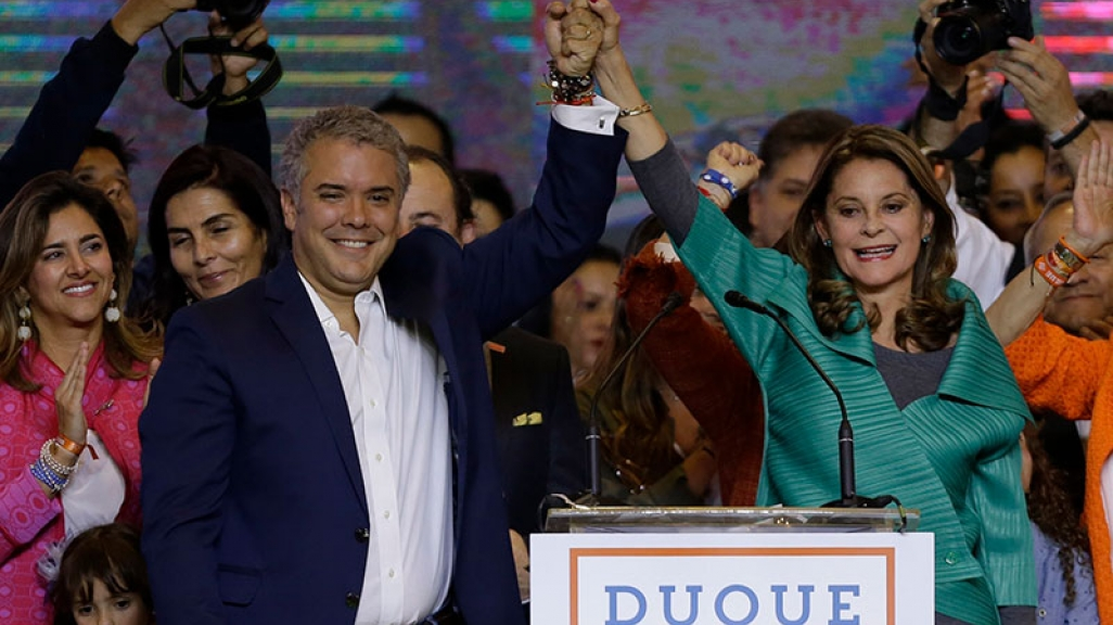 Iván Duque wins Colombia's presidential election
