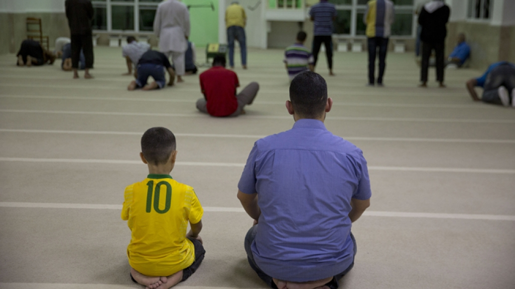 Syrian refugees attends prayer at a mosque in Sao Paulo, Brazil