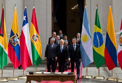 Prosur signing in Chile with Latin American presidents