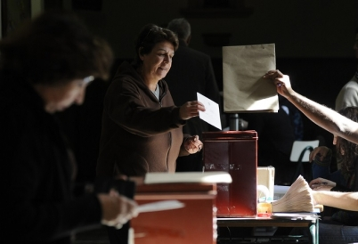 Voters in Uruguay Casting their Ballots