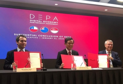 DEPA signing ceremony in Singapore.