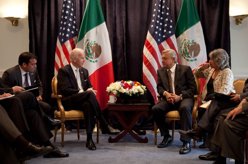 Biden and AMLO meeting in 2012